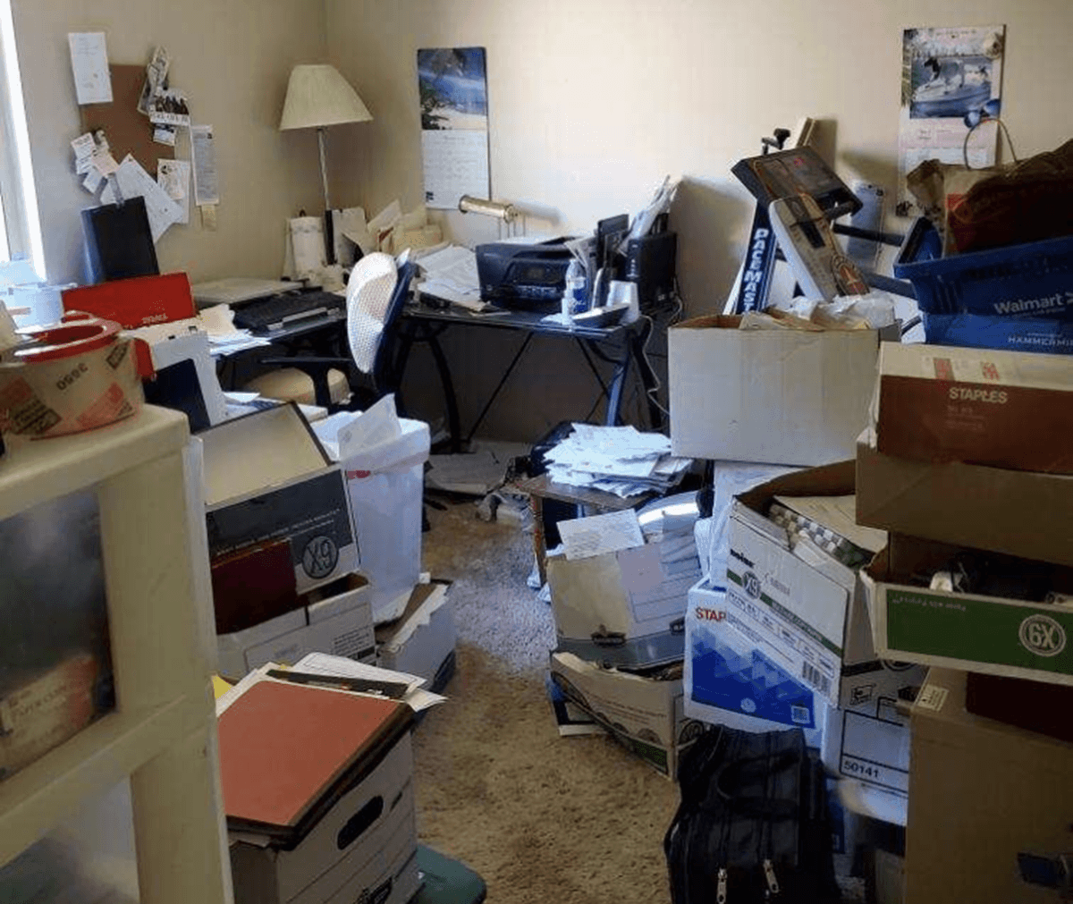 out of control clutter
